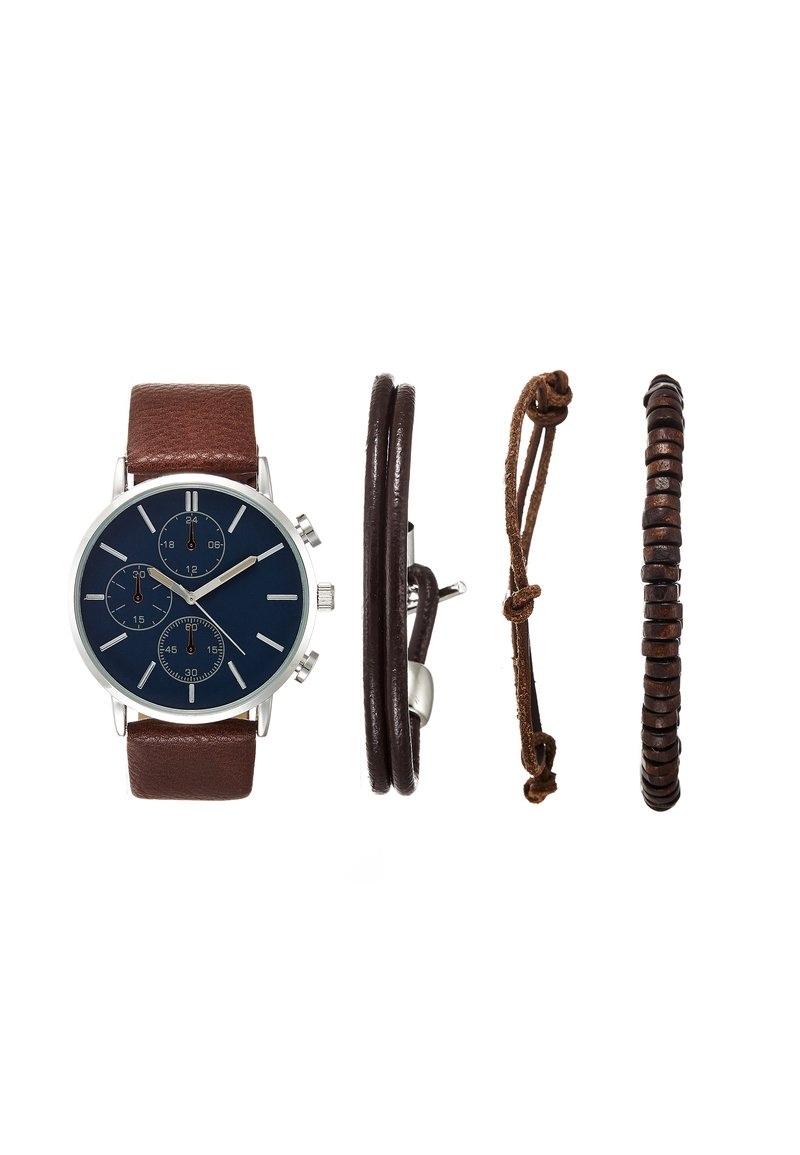 Pier One - SET - Watch - cognac