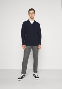 Marc O'Polo - TAPERED FIT PATCHED - Trousers - gray - 1
