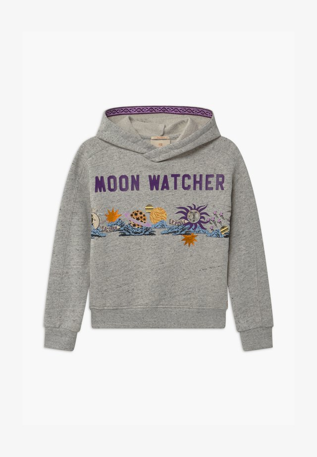 BOXY FIT HOODY WITH ARTWORK - Sweat à capuche - grey