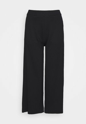 CULOTTE CROPPED LENGTH - Bukse - black