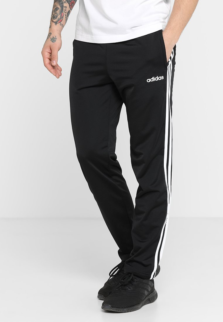 adidas Performance - 3 STRIPES SPORTS REGULAR PANTS - Jogginghose - black/white