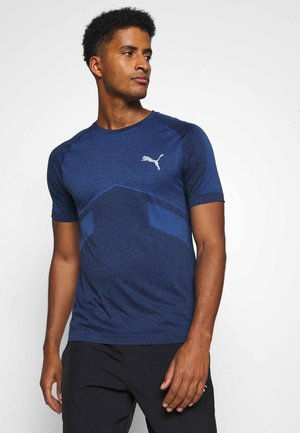 EVOSTRIPE SEAMLESS TEE - Sports shirt - peacoat