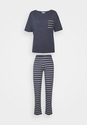 STRIPE - Pyjama set - navy mix