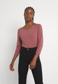 ONLY - ONLFIFI BOATNECK BOX  - Long sleeved top - rose brown - 0