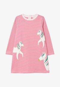 Tom Joule - Day dress - rosa drei pferde - 0