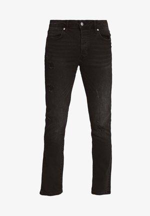 DAMAGE - Jeans slim fit - washed black