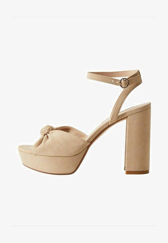 WED - Sandalen met hoge hak - marrón claro/pastel