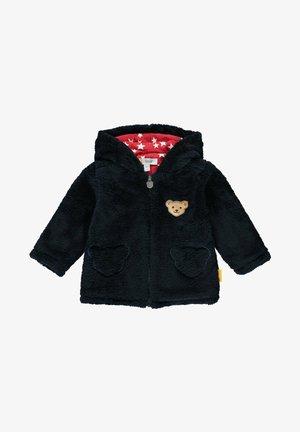 MIT TEDDYBÄRFÖRMIGEN TASCHEN - Fleece jacket - steiff navy