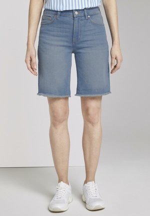 LINA BERMUDA - Denim shorts - light stone bright blue denim