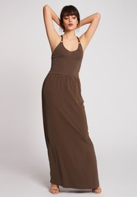 Morgan - Vestido largo - khaki - 0