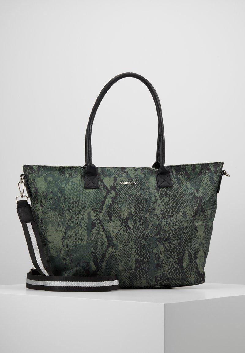 Codello - SNAKE PRINT SHOPPER - Tote bag - bottle green