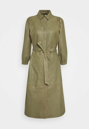 PETRAH ZIA DRESS - Shirt dress - deep olive