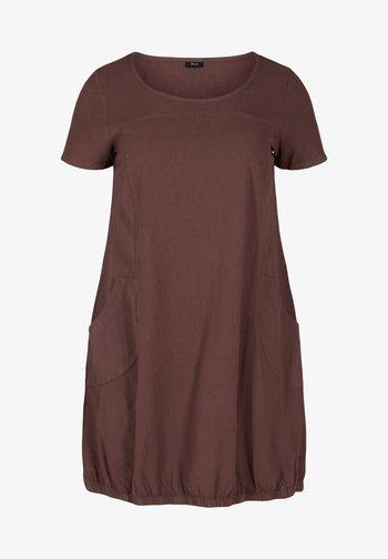 Jersey dress - mocca