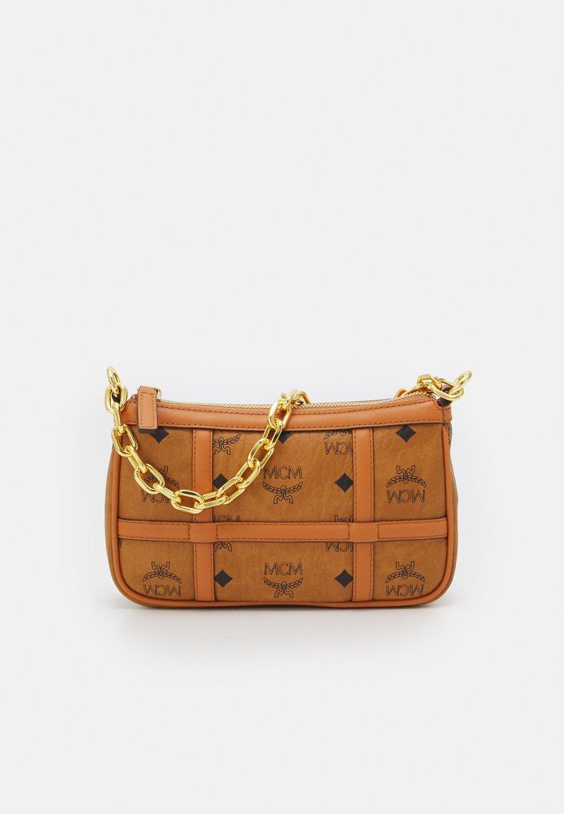 MCM - DELMY SHOULDER BAG IN VISETOS - Handbag - cognac
