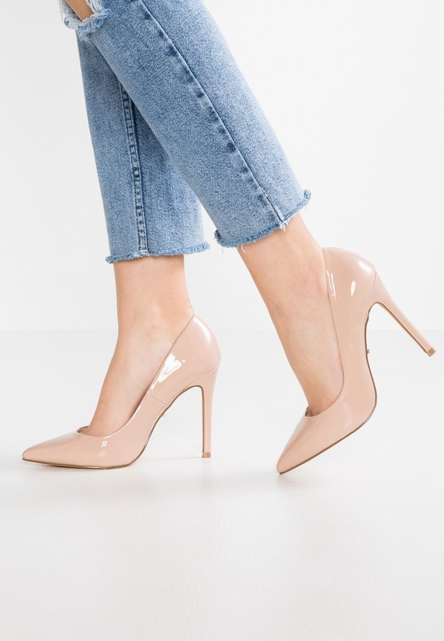 WIDE FIT - High heels - natural
