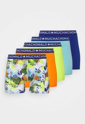 LOVE 5 PACK - Pants - dark blue/orange/green