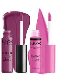 Nyx Professional Makeup - 2ME, LUV ME BUTTER LIP GLOSS DUO-SET - Lip palette - berry pink/neutral pink - 3