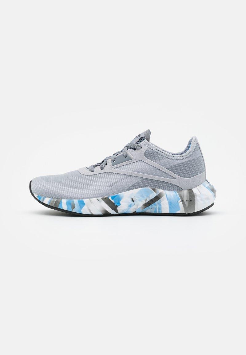 Reebok - FLASHFILM 3.0 - Neutral running shoes - true grey/white/horizon blue