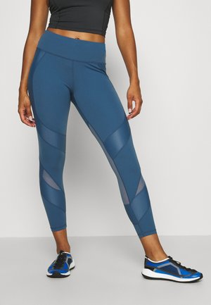 POWER SCULPT WORKOUT LEGGINGS - Leggings - stellar blue