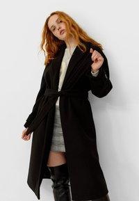 Stradivarius - Classic coat - black - 2