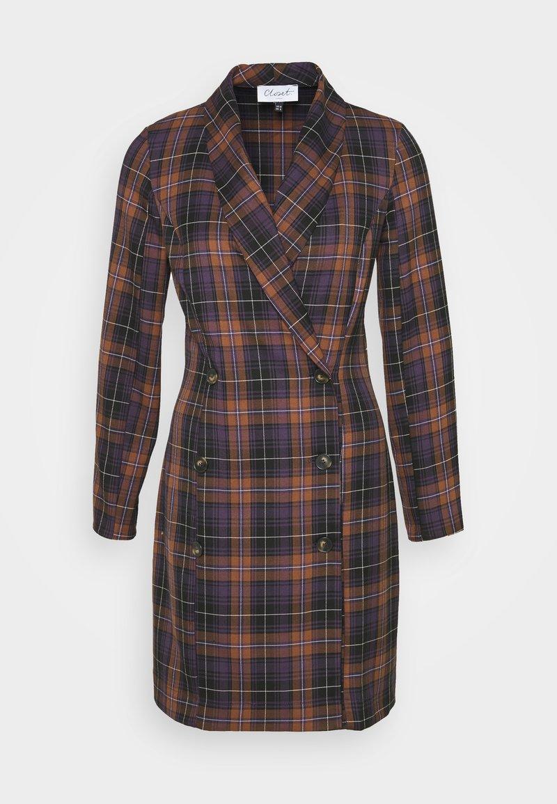 Closet - DOUBLE BREASTED BLAZOR DRESS - Sukienka koszulowa - brown