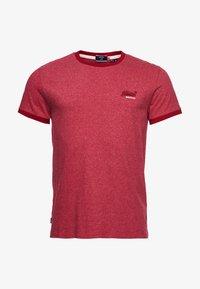 Superdry - ORANGE LABEL - Basic T-shirt - vintage red grit - 0