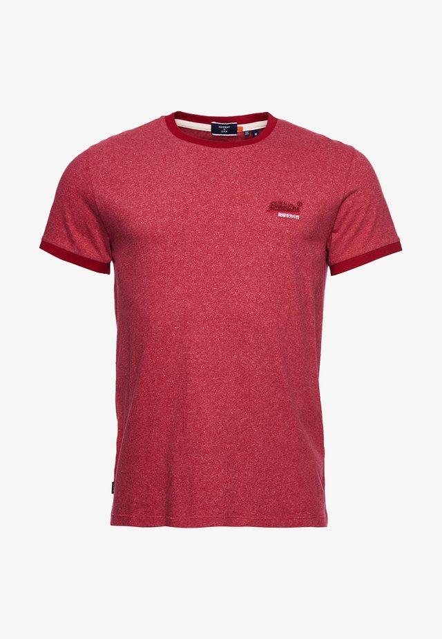 ORANGE LABEL - T-shirt basic - vintage red grit
