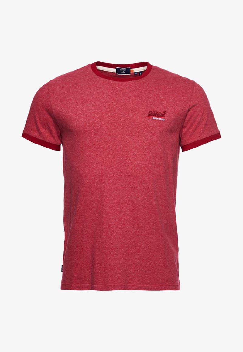Superdry - ORANGE LABEL - Basic T-shirt - vintage red grit