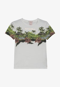 Scotch & Soda - SHORT SLEEVE TEE WITH TROPICAL - Triko s potiskem - off white - 3