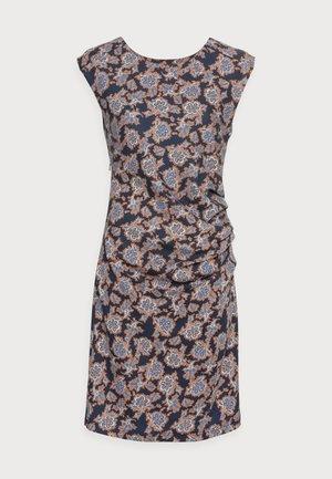 STINNA INDIA DRESS - Jerseyklänning - blue/brown