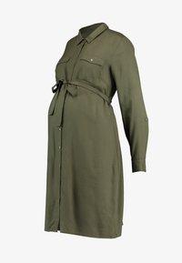 MAMALICIOUS - MLMERCY  WOVEN SHIRT DRESS - Sukienka koszulowa - climbing ivy - 5