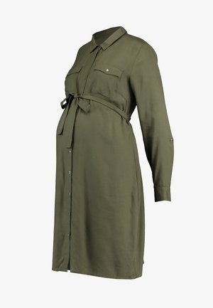 MLMERCY  WOVEN SHIRT DRESS - Vestido camisero - climbing ivy
