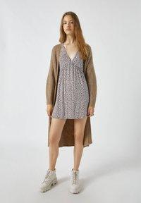 PULL&BEAR - Day dress - mottled light brown - 1
