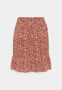 ONLY - ONLOLIVIA WRAP SKIRT - Wrap skirt - henna - 1