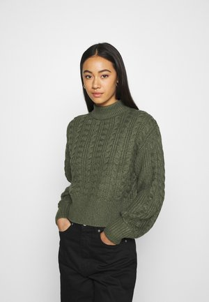 TITTI - Strickpullover - khaki green medium dusty unique