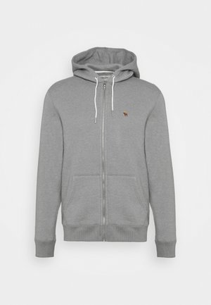 Zip-up hoodie - flat grey