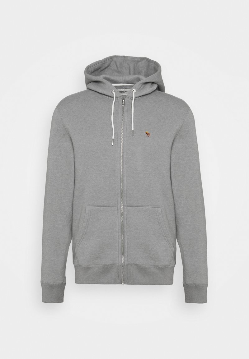 Abercrombie & Fitch - Zip-up hoodie - flat grey