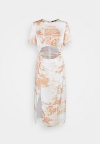 Missguided - PAISLEY PRINT CUT OUT DETAIL MIDI DRESS - Kjole - cream - 5