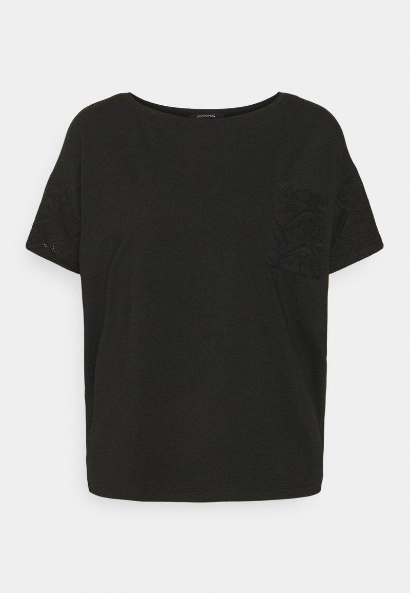 comma - Print T-shirt - black