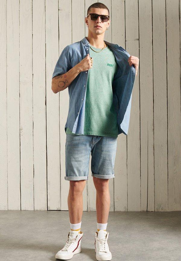 Superdry T-shirt basic - bright green grit/zielony Odzież Męska JBNC