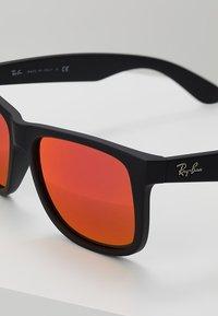 Ray-Ban - JUSTIN - Sunglasses - black brown mirror orange - 2