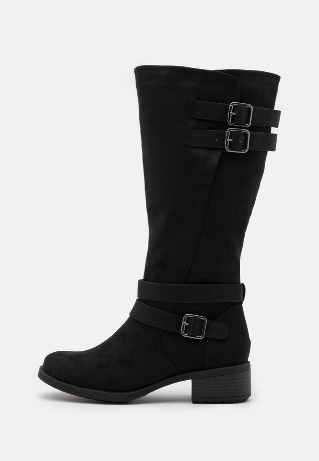 WIDE FIT RIDER BOOT - Botas - black