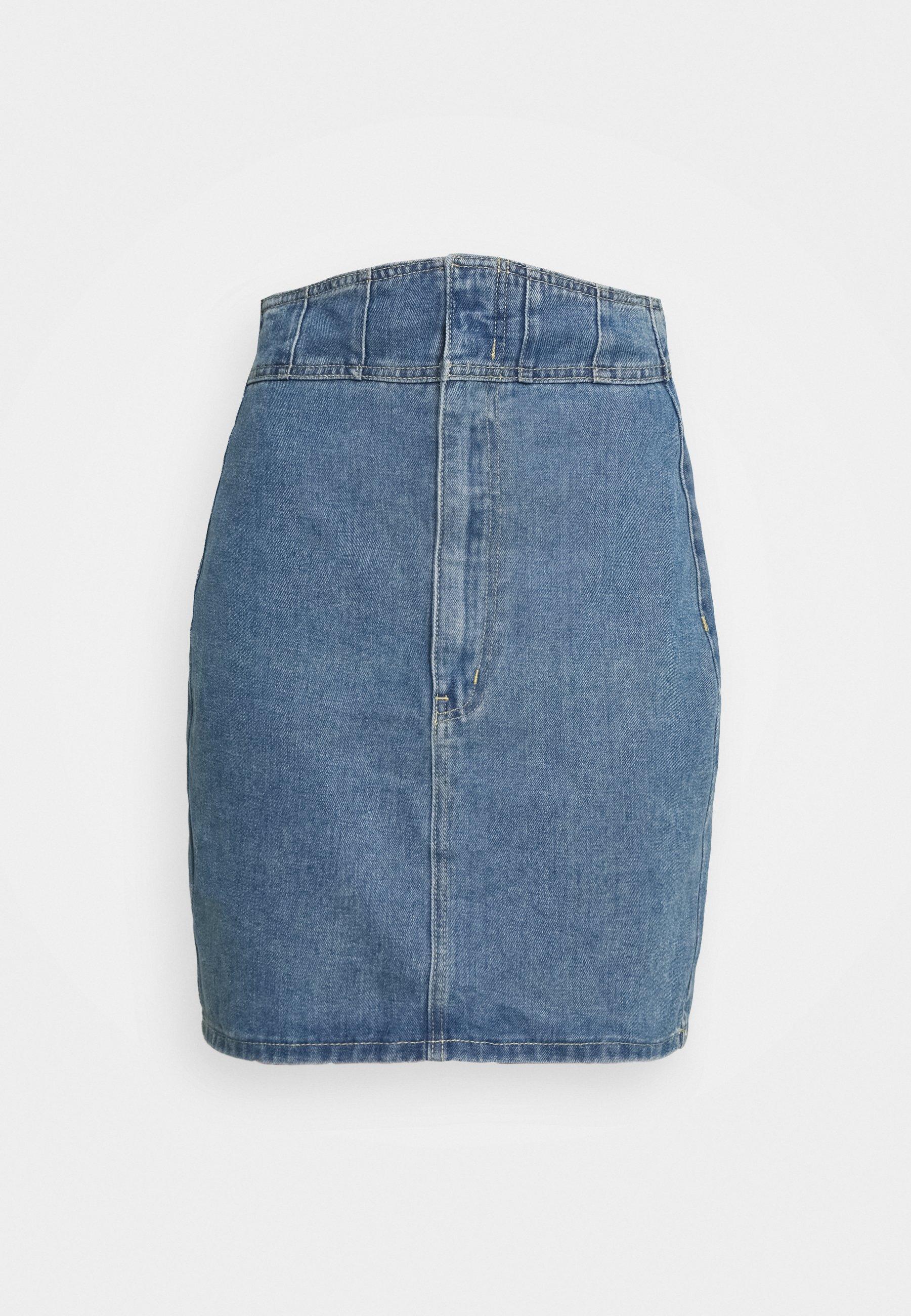 Women CORSET DETAIL SKIRT - Denim skirt