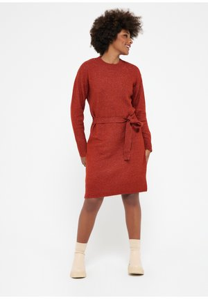 WITH BELT - Cocktail dress / Party dress - red