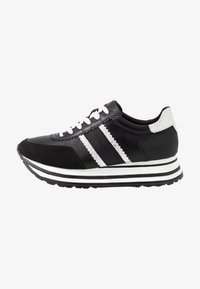Tamaris - LACE UP - Trainers - black/silver - 1
