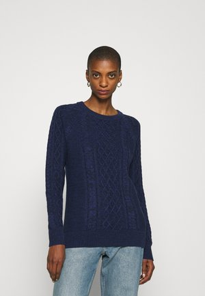 CABLE CREW - Strickpullover - navy marl