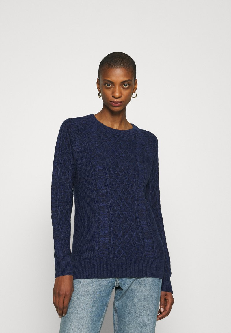 GAP - CABLE CREW - Jumper - navy marl