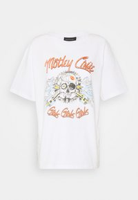 MOTLEY CREW TEE BY AND FINALLY - Print T-shirt - white