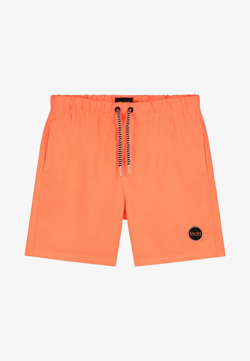 Shiwi - BOYS SWIMSHORT SOLID MIKE - Swimming shorts - neon orange