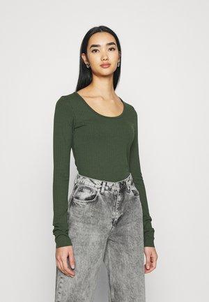 BODY SLIM - Long sleeved top - algae